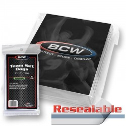 BCW Resealable Team Set Bags